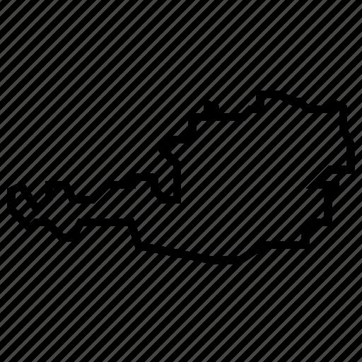 austria, map icon