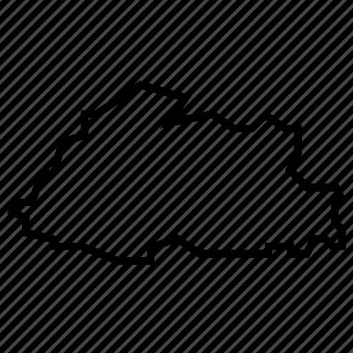 bhutan, map icon