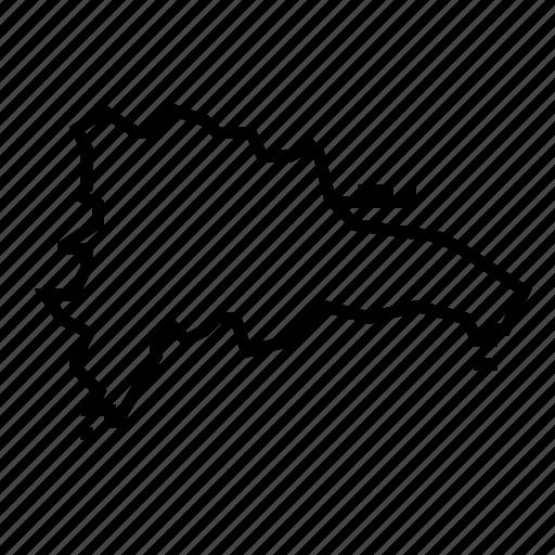 dominican, map, republic icon