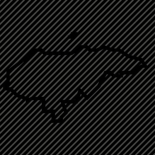 honduras, map icon