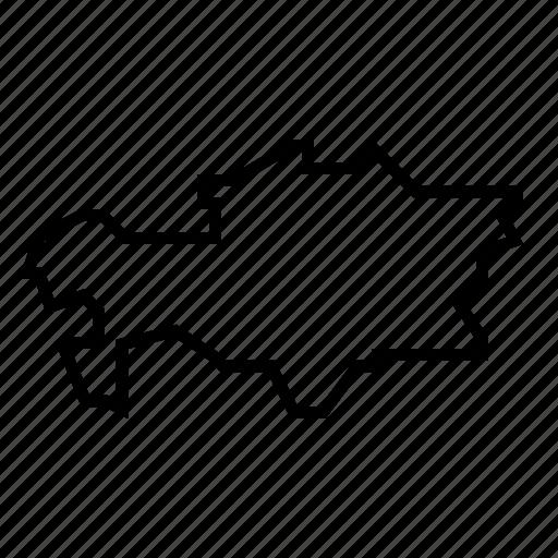 kazakhstan, map icon