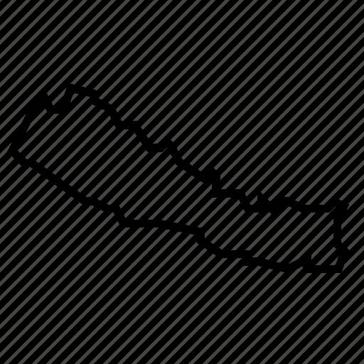 map, nepal icon