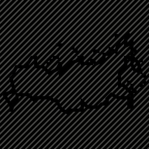 map, russia icon