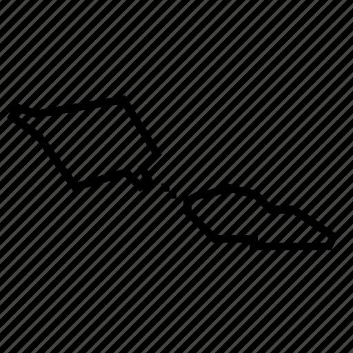 map, samoa icon