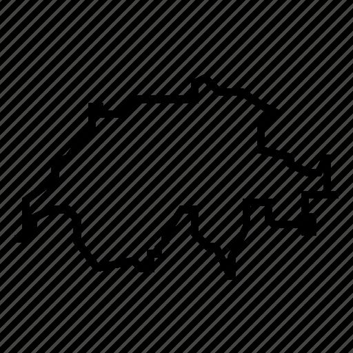 map, swiss, switzerland icon