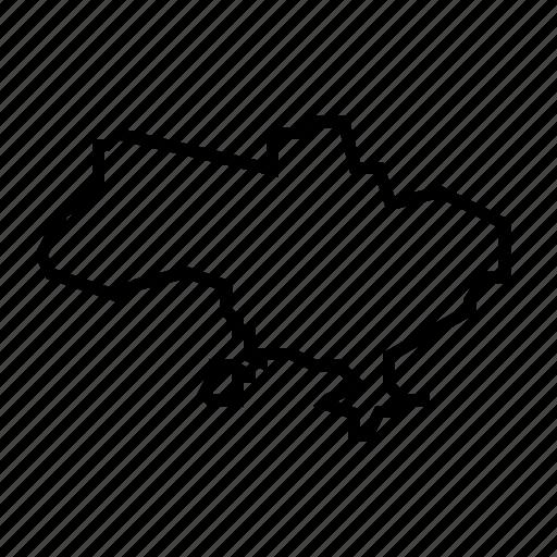 map, ukraine icon