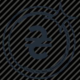 currencycoinukraine, hryvnia, money icon