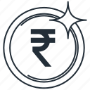 coin, currency, india, money, rupee icon