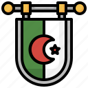 flag, nation, algeria, country, world icon