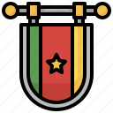 flag, nation, world, country, cameroon icon