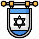 flag, nation, israel, country, world icon