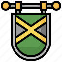 flag, nation, jamaica, country, world icon