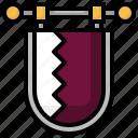 flag, nation, world, country, qatar icon