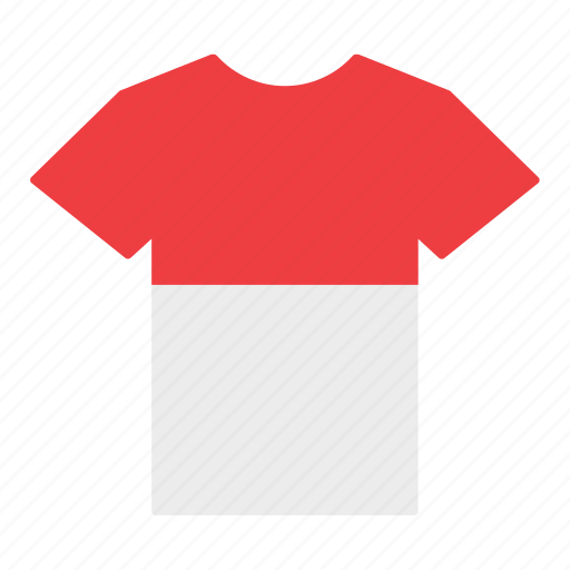 country, flag, indonesia, jersey, monaco, shirt, t-shirt icon