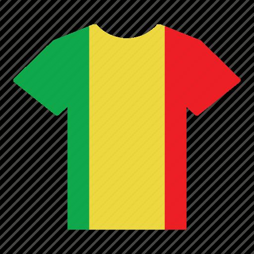 country, flag, jersey, mali, malian, shirt, t-shirt icon