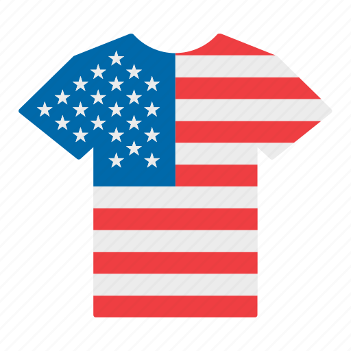 america, american, flag, jersey, shirt, united states, us icon