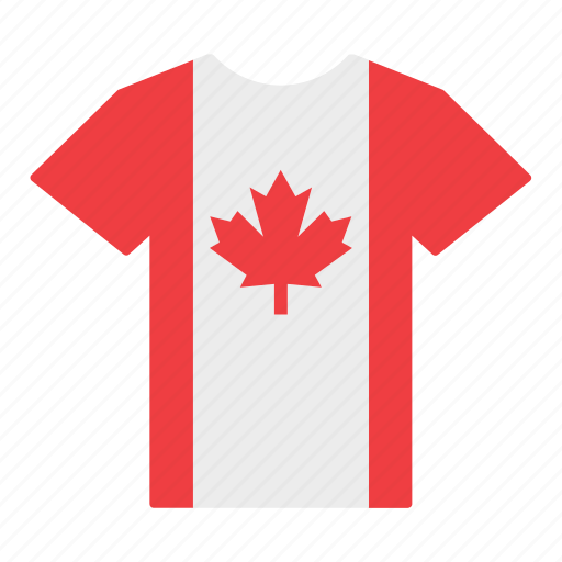 canada, canadian, country, flag, jersey, shirt, t-shirt icon