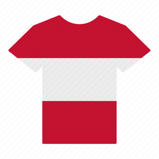 asutrian, austria, country, flag, jersey, shirt, t-shirt icon