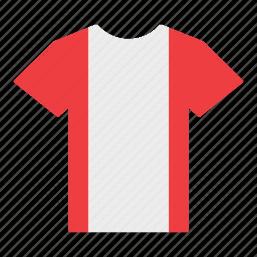 country, flag, jersey, peru, peruvian, shirt, t-shirt icon