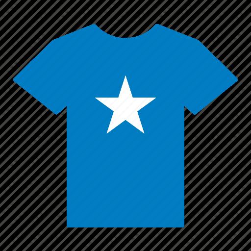 country, flag, jersey, shirt, somali, somalia, t-shirt icon