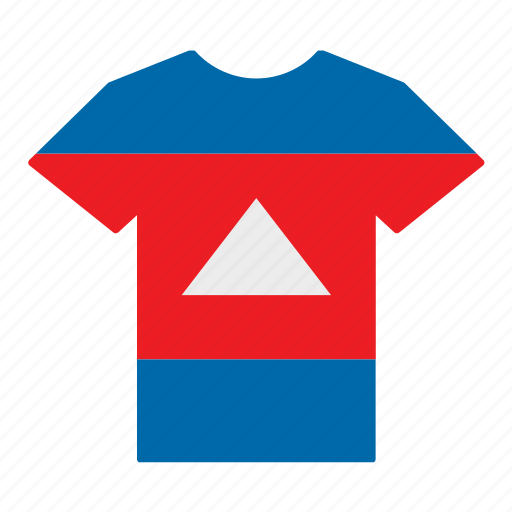 cambodia, cambodian, country, flag, jersey, shirt, t-shirt icon