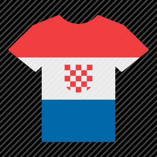 country, croatia, croatian, flag, jersey, shirt, t-shirt icon