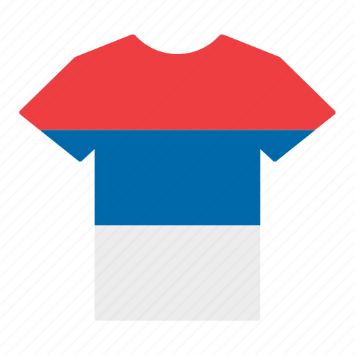 country, flag, jersey, serb, serbia, serbian, shirt icon