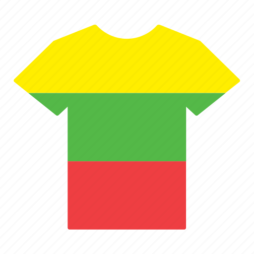 country, flag, jersey, lithuania, lithuanian, shirt, t-shirt icon