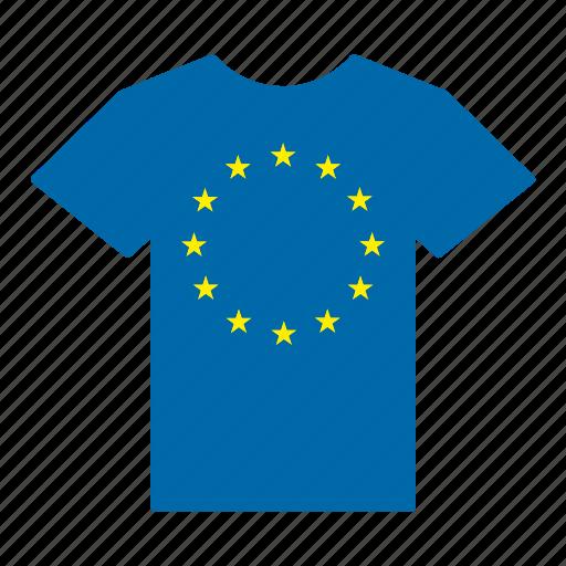 country, europe, european, european union, flag, jersey, shirt icon