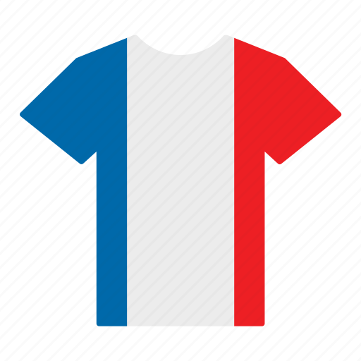 country, flag, france, french, jersey, shirt, t-shirt icon