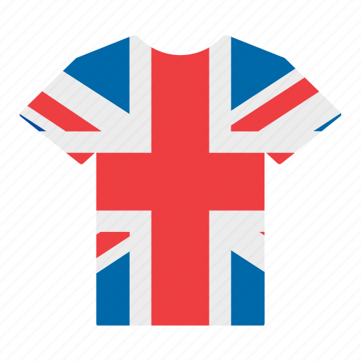 british, country, flag, great britain, jersey, shirt, united kingdom icon