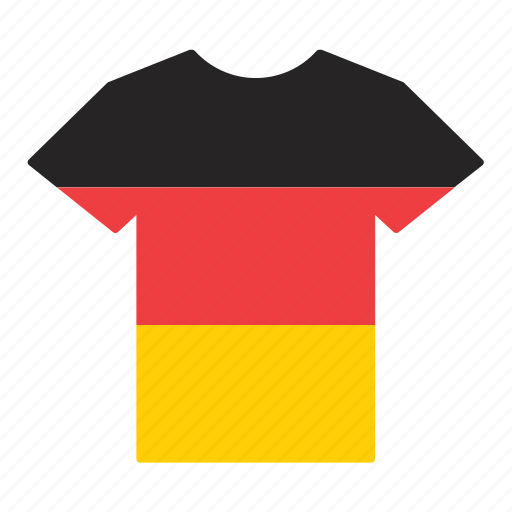 country, flag, german, germany, jersey, shirt, t-shirt icon