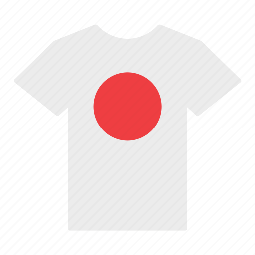 country, flag, japan, japanese, jersey, shirt, t-shirt icon