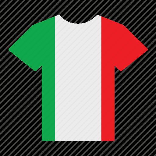 country, flag, italian, italy, jersey, shirt, t-shirt icon