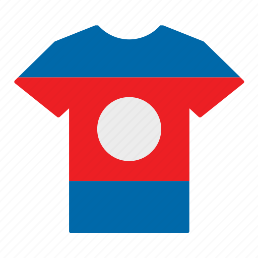 country, flag, jersey, laos, laotian, shirt, t-shirt icon
