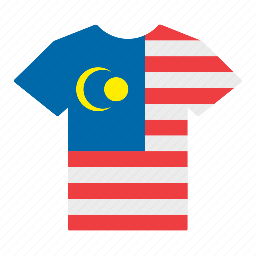 country, flag, jersey, malaysia, malaysian, shirt, t-shirt icon