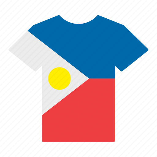 country, filipino, flag, jersey, philippines, shirt, t-shirt icon
