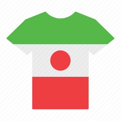 country, flag, iran, iranian, jersey, shirt, t-shirt icon