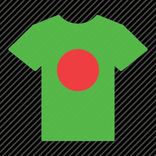bangladesh, bangladeshi, country, flag, jersey, shirt, t-shirt icon
