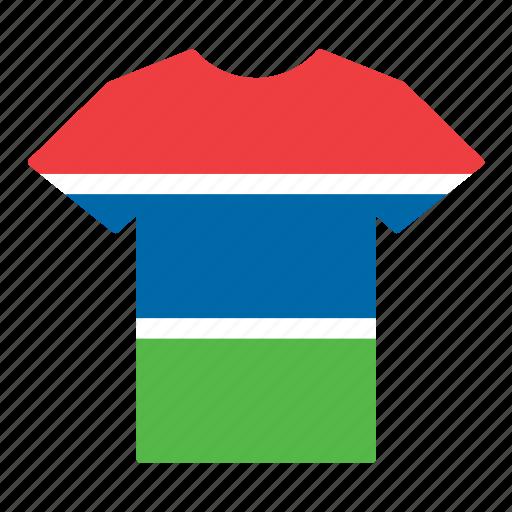 country, flag, gambia, gambian, jersey, shirt, t-shirt icon