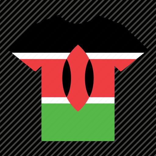 country, flag, jersey, kenya, kenyan, shirt, t-shirt icon
