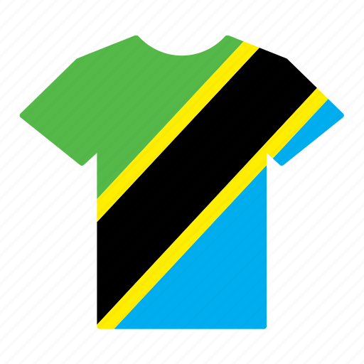 country, flag, jersey, shirt, t-shirt, tanzania, tanzanian icon