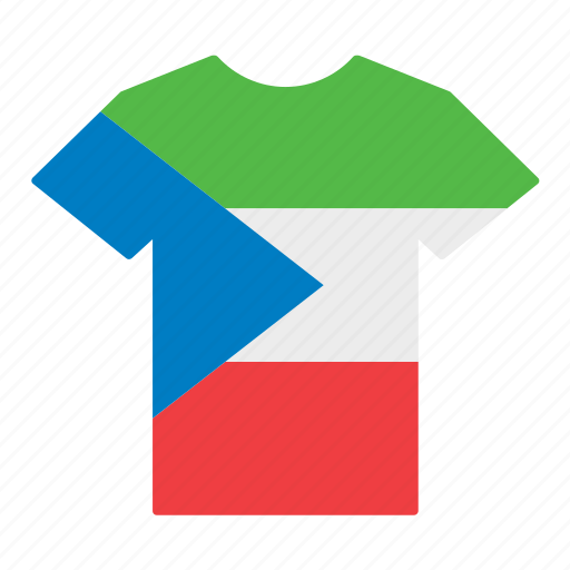 country, equatorial, flag, guinea, guinean, jersey, shirt icon