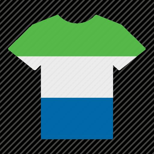 country, flag, jersey, shirt, sierra leone, sierra leonean, t-shirt icon