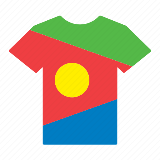 country, eritrea, eritrean, flag, jersey, shirt, t-shirt icon