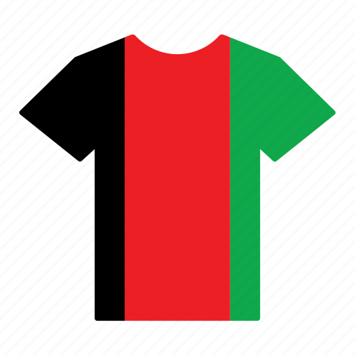 afghan, afghanistan, country, flag, jersey, shirt icon