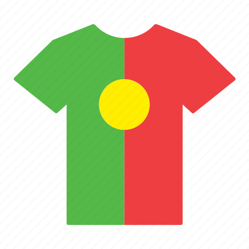 country, flag, jersey, portugal, portuguese, shirt, t-shirt icon