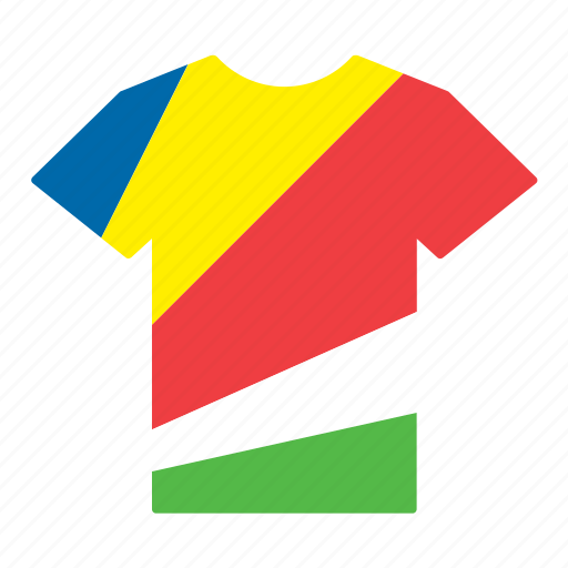 country, flag, jersey, seychelles, seychellois, shirt, t-shirt icon