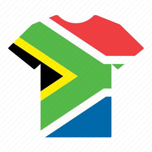 country, flag, jersey, shirt, south africa, south african, t-shirt icon