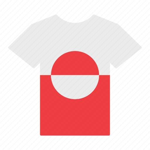 country, flag, greenland, greenlander, jersey, shirt, t-shirt icon